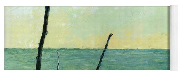 Branches On The Beach - Oil Yoga Mat