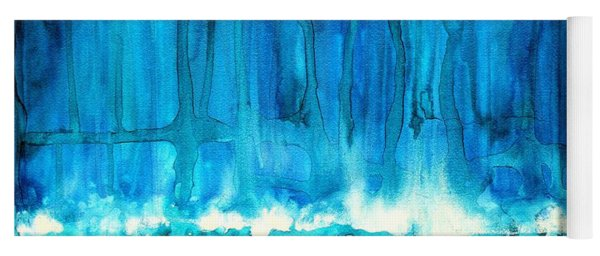 Breakers Off Point Reyes Original Painting Yoga Mat