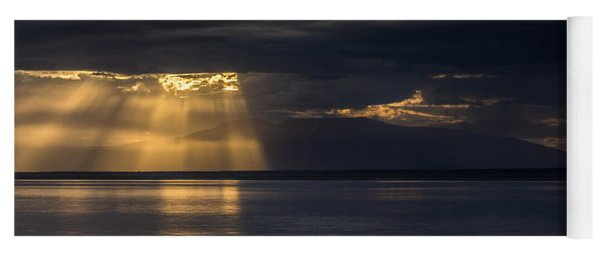 Breaking Clouds Over Mount Susitna Yoga Mat
