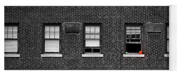 Brick Wall And Windows Yoga Mat