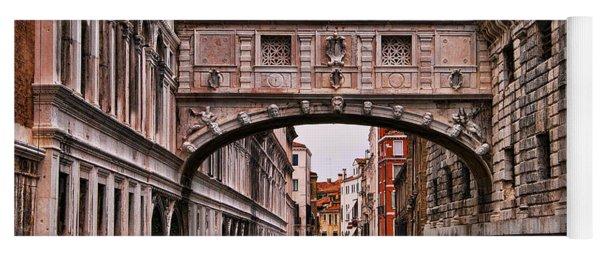 Bridge Of Sighs In Venice Yoga Mat