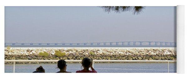 Bridge Over The Tejo River Yoga Mat