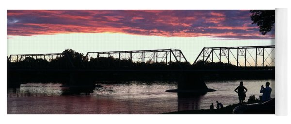 Bridge Sunset In June Yoga Mat
