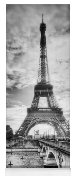 Yoga Mat featuring the photograph Bridge To The Eiffel Tower by John Wadleigh