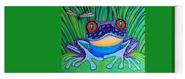 Bright Eyed Frog Yoga Mat