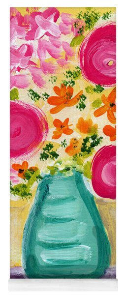 Bright Flowers Yoga Mat