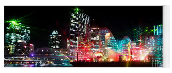 Brisbane City Of Lights Yoga Mat