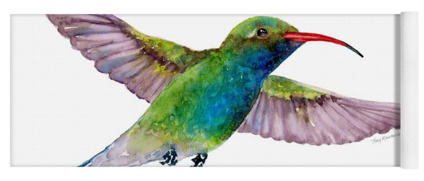 Broad Billed Hummingbird Yoga Mat