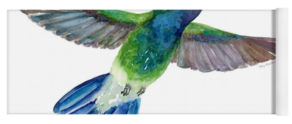 Broadbilled Fan Tail Hummingbird Yoga Mat