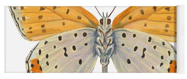 Bronze Copper Butterfly Yoga Mat