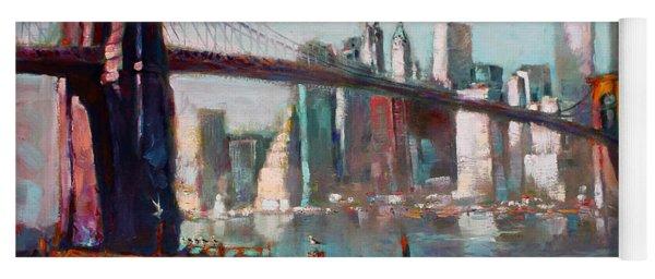 Brooklyn Bridge And Twin Towers Yoga Mat
