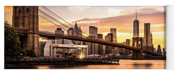 Brooklyn Bridge At Sunset  Yoga Mat