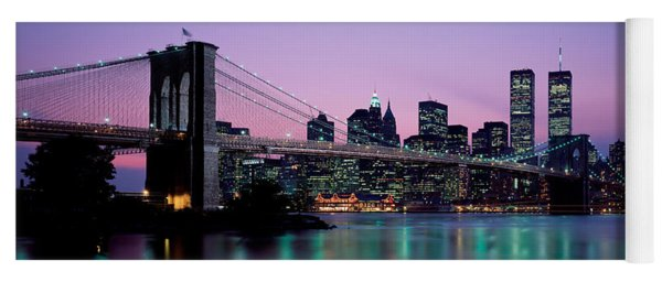 Brooklyn Bridge New York Ny Usa Yoga Mat