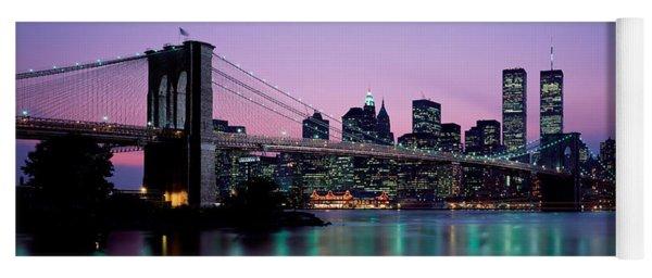 Brooklyn Bridge New York Ny Usa Yoga Mat