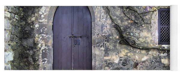 Brown Rustic Wood Door Of Medieval Europe Yoga Mat