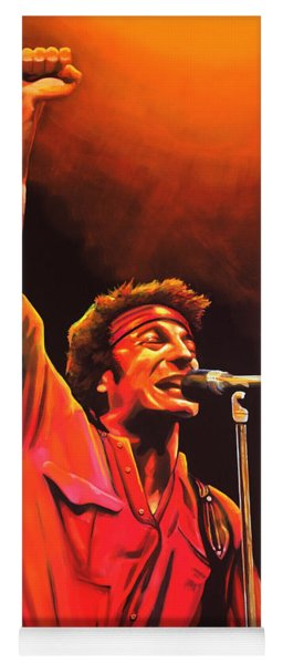 Bruce Springsteen Painting Yoga Mat