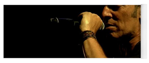 Bruce Springsteen Performing The River At Glastonbury In 2009 - 3 Yoga Mat