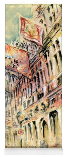 Brussels Grand Place - Watercolor Yoga Mat