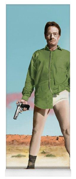 Bryan Cranston As Walter White  @ Tv Serie Breaking Bad Yoga Mat