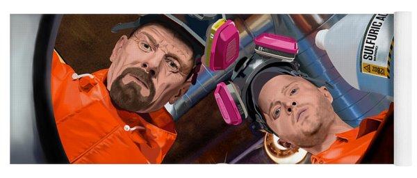 Bryan Cranston As Walter White And Aaron Paul As Jesse Pinkman @ Tv Serie Breaking Bad Yoga Mat