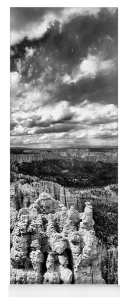 Bryce Canyon In Black And White Yoga Mat