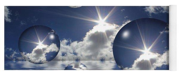 Bubbles In The Sun Yoga Mat