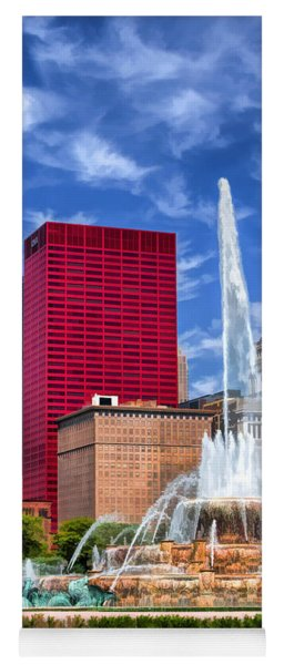 Buckingham Fountain Sears Tower Yoga Mat