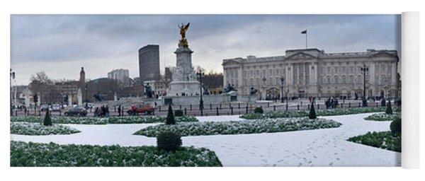 Buckingham Palace In Winter, City Yoga Mat