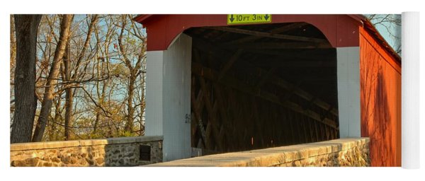 Bucks County Van Sant Covered Bridge Yoga Mat