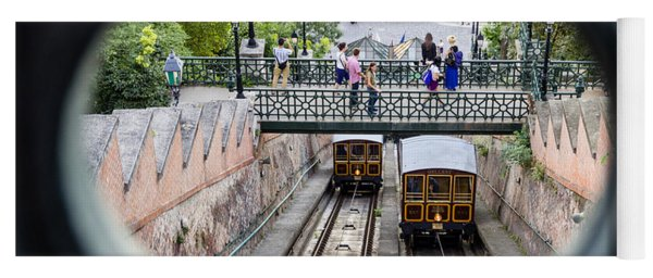 Budapest Castle Hill Funicular Yoga Mat