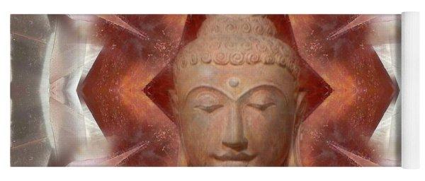 Buddha Head Crystal Mandala Yoga Mat