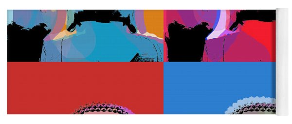 Buddha Pop Art - 4 Panels Yoga Mat