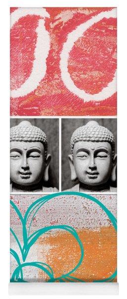 Buddha With Flower Yoga Mat