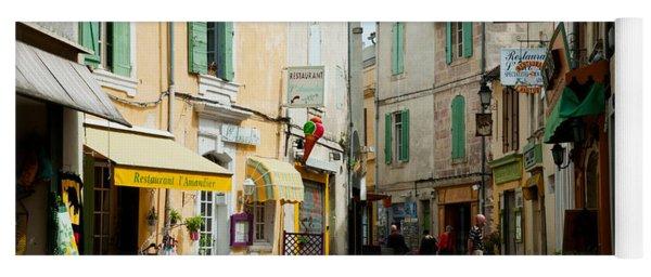 Buildings Along A Street, Rue Porte De Yoga Mat
