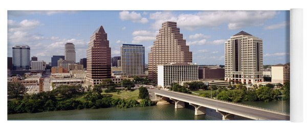 Buildings In A City, Town Lake, Austin Yoga Mat