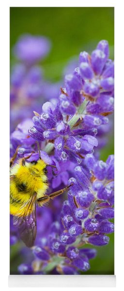 Bumble Bee And Lavender Yoga Mat