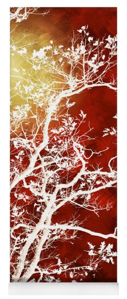 Burgundy Tree Art Yoga Mat