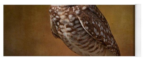 Burrowing Owl Portrait Yoga Mat