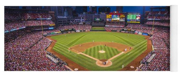 Busch Stadium St. Louis Cardinals Night Game Yoga Mat