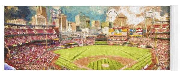 Busch Stadium St. Louis Cardinals Day Paint Yoga Mat