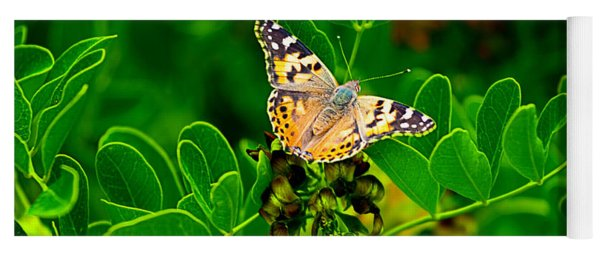 Butterfly In Paradise Yoga Mat