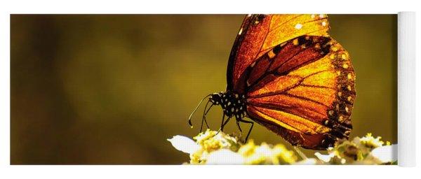 Butterfly In Sun Yoga Mat