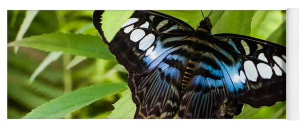 Butterfly On Leaf   Yoga Mat