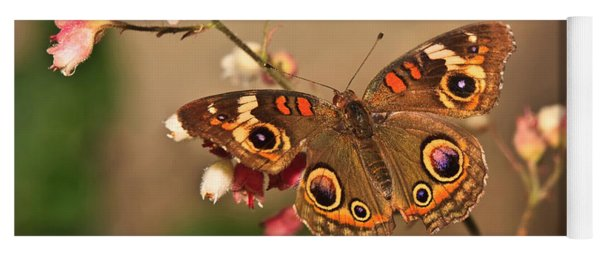 Butterfly On Pink Yoga Mat