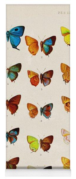 Butterfly Plate Yoga Mat