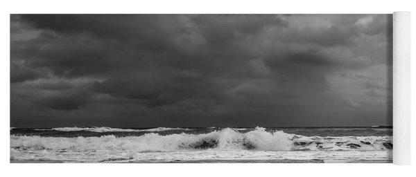 Bw Stormy Seascape Yoga Mat
