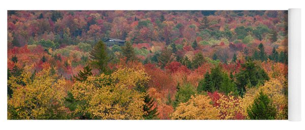 Cabin In Vermont Fall Colors Yoga Mat