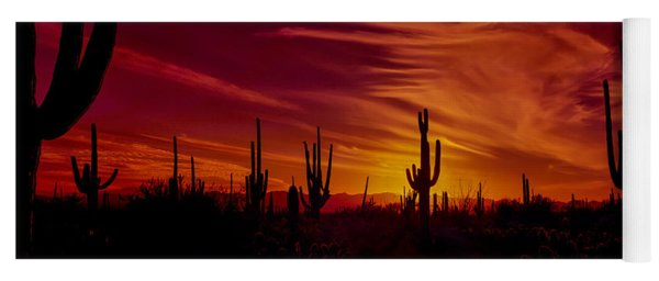 Cactus Glow Yoga Mat