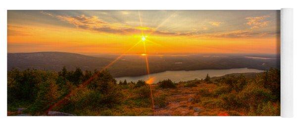 Cadillac Mountain Sunset Acadia National Park Bar Harbor Maine Yoga Mat