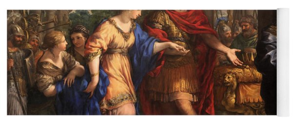 Caesar Giving Cleopatra The Throne Of Egypt, C.1637 Oil On Canvas Yoga Mat